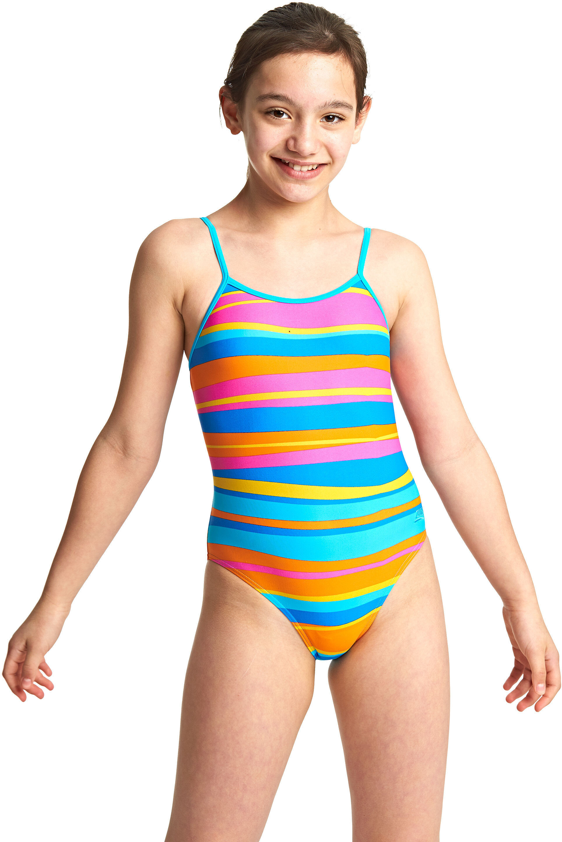 a118b0ee64481 Zoggs Folk Tale Yaroomba Floral Swimsuit Children colourful at ...